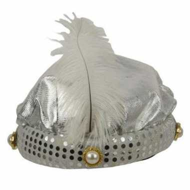 1001 nacht hoed zilver