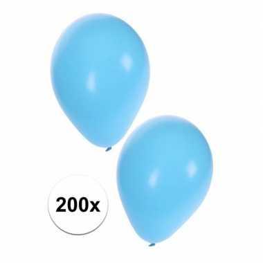 200 lichtblauwe decoratie ballonnem