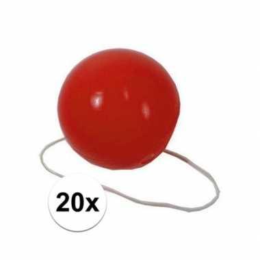 20x voordelige rode clowns neuzen