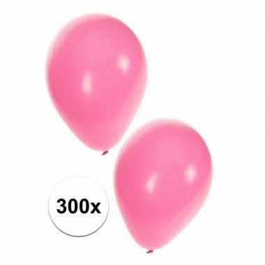 300 lichtroze dekoratie ballonnen