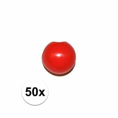 50x rode clownsneus/neuzen zonder elastiek