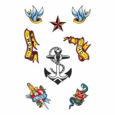 8 stuks matroos tattoo