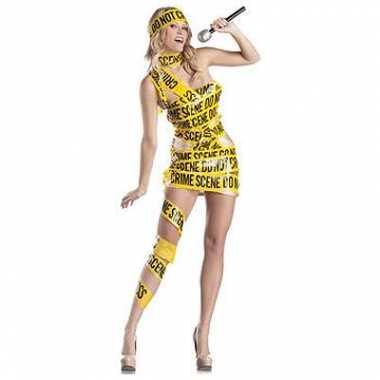 Afzetlint crime scene kostuum