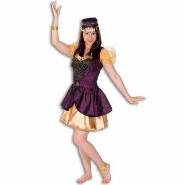 Arabisch jurkje voor dames goud met paars