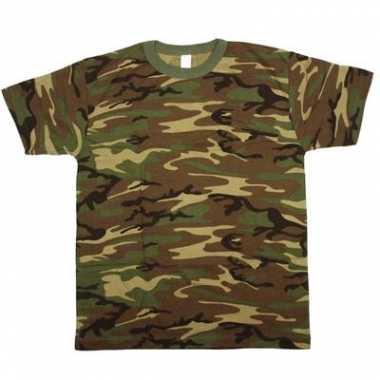 Army leger camouflage t-shirt korte mouwen voor heren