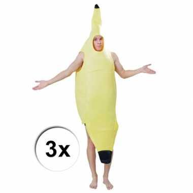 Bananen outfits 3 x voor volwassenen