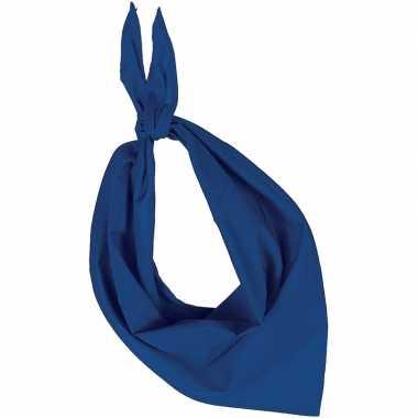 Bandana/zakdoek blauw voor volwassenen