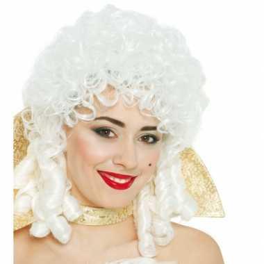 Barok vrouwen pruik wit