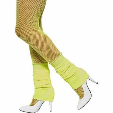 Beenwarmers in het fluor geel
