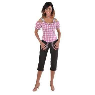 Beieren ruit blouse voor dames