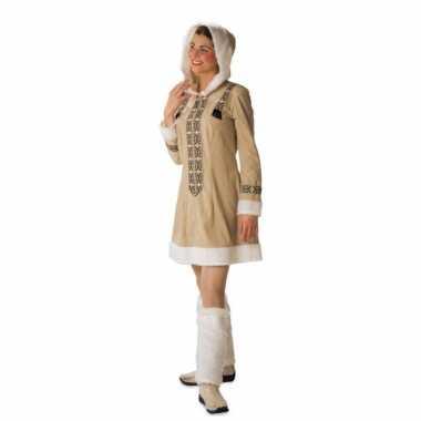 Beige eskimo vest voor dames