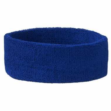 Blauw hoofd zweetbandje sport