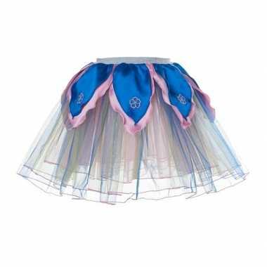 Blauw met roze fee verkleed tutu voor meiden