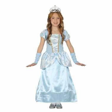 Blauw prinsessen verkleedjurkje voor meisjes