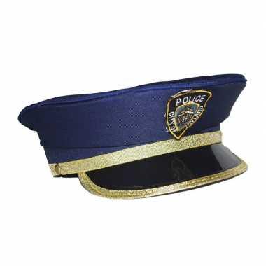 Blauwe agent pet kinderen