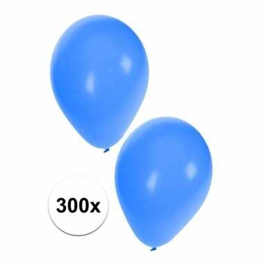 Blauwe carnaval ballonnen 300 st