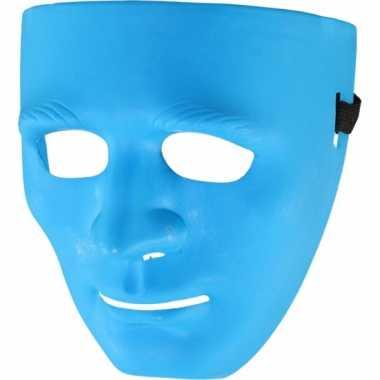 Blauwe gezichtmaskers