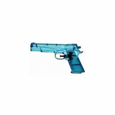 Blauwe kleine waterpistooltjes 20 cm