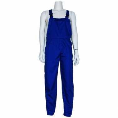 Blauwe tuinbroek overall voor volwassenen