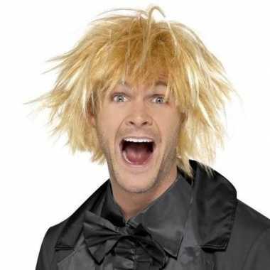 Blonde jaren 90 pruik voor heren