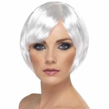 Bobline damespruik wit