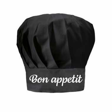 Bon appetit cadeau koksmuts zwart dames en heren