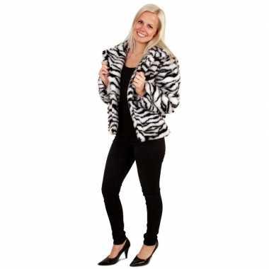 Bontjas zebra print voor dames