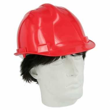 Bouwvakkers helmen rood
