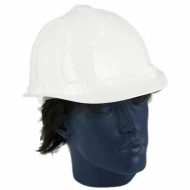 Bouwvakkers helmen wit