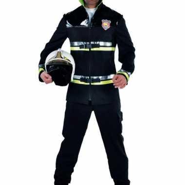 Brandweer pak zwart met geel