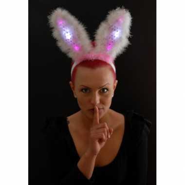 Bunny oren roze met led lampje