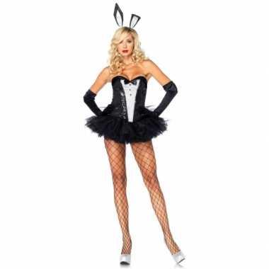 Bunny outfit zwart wit voor dames