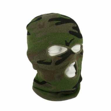 Camouflage 3 holes bivakmuts