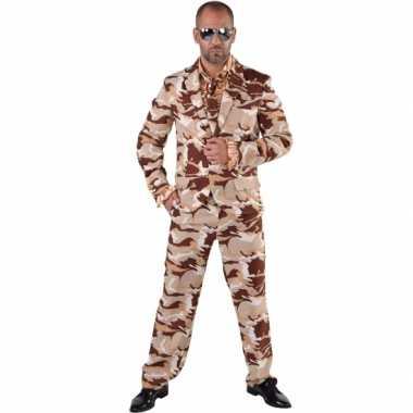 Camouflage kostuum 3 delig voor heren