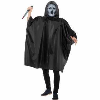 Carnaval cape met scream masker