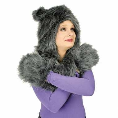 Carnaval dierenpak wolf set