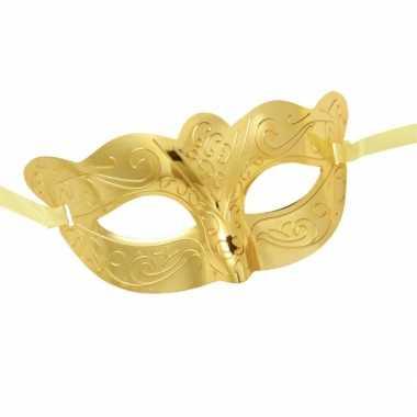 Carnaval masker metallic goud
