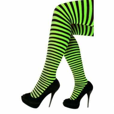Carnaval panty zwart groen