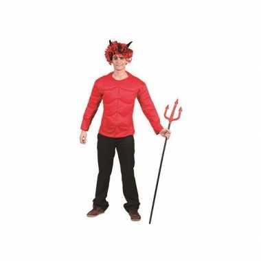 Carnaval rood gespierd shirt