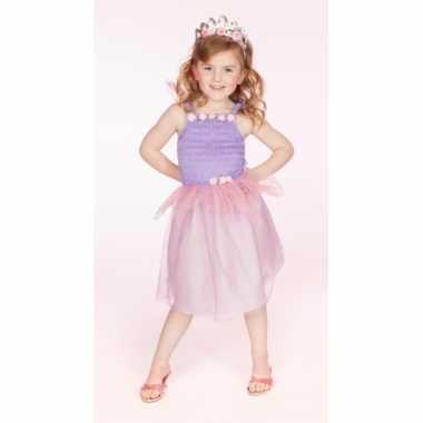 Carnaval verkleedkleding prinses lila meisjes