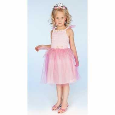 Carnaval verkleedkleding prinses roze meisjes