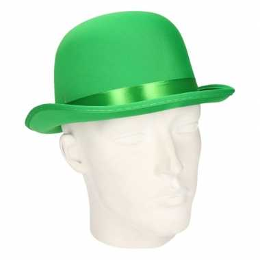 Carnavals luxe bolhoed groen