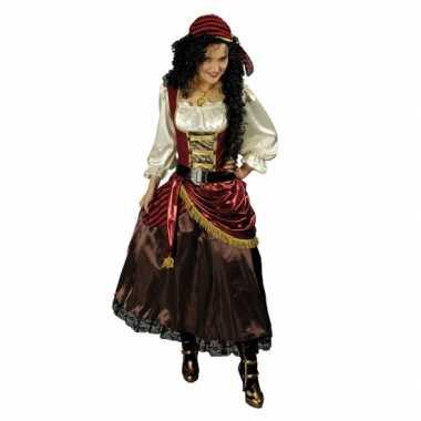 Carnavalskleding piratenjurk met accessoires