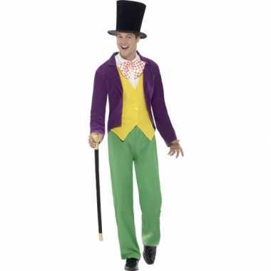 Carnavalskleding willy wonka kostuum