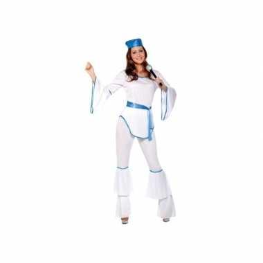 Carnavalskostuum disco wit voor dames