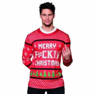 Carnavalskostuum kerst heren shirt 10075234
