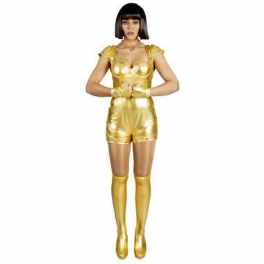 6c953cae6c5695 Carnavalskostuum spacegirl goud voor dames