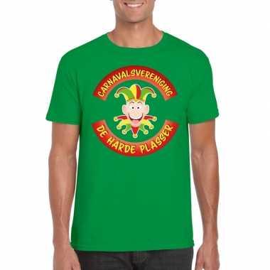 Carnavalsvereniging de harde plasser limburg heren t shirt groen