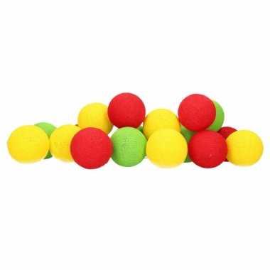 Cotton balls rood geel groen lichtsnoer 5 28 meter