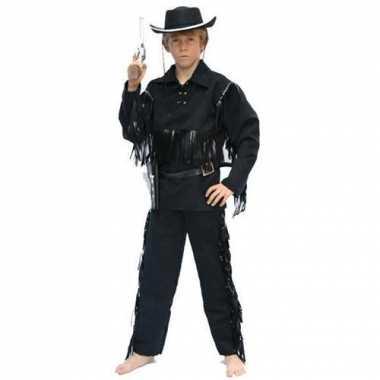 Cowboy kostuum voor kinderen zwart
